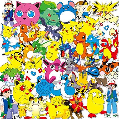 Juego 17 pegatinas 17 piezas Pokemon impermeable juguete dibujos animados pegatina mixta scooter bicicleta teléfono móvil portátil bolsa viaje divertido Doodle