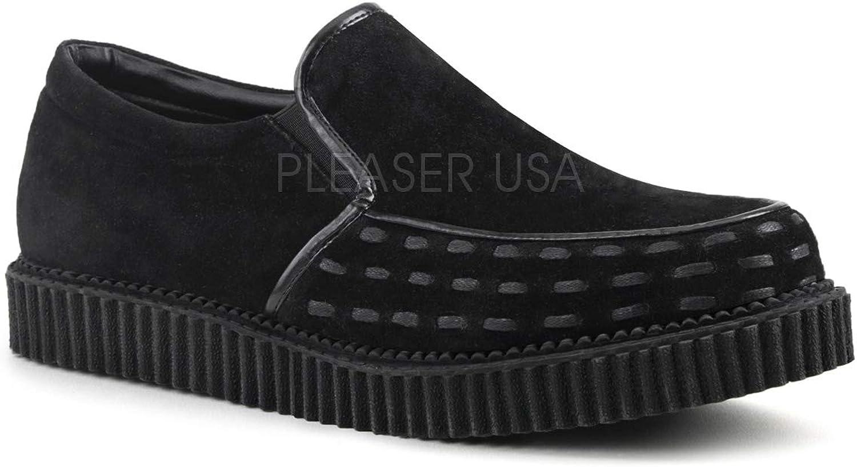 Demonia Unisex V-CREEPER-607 Loafer Black