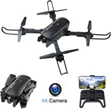 $69 » FPV WiFi Drone with 4K Camera Wide Angle Four-axis Foldable Drone Optical Flow Positioning/Altitude Hold/Headless Mode/Follow Me/APP Control/Gesture Control/Gravity Sensor, Compatible w/VR Headset