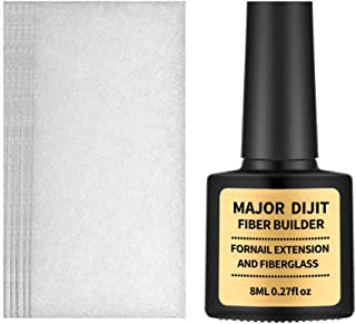 ErYao Silk Fiberglass Nail Extension Kit, Fiber Builder Gel/Silk Fiberglass Nail Wrap and Extension Gel