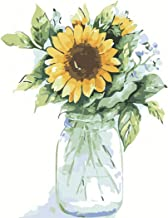 Paint by Numbers for Adults Kits Sunflowers Adult Toy Color Oil Paint DIY Paintings Art Set Easy for Beginner Wall Home Décor xrk