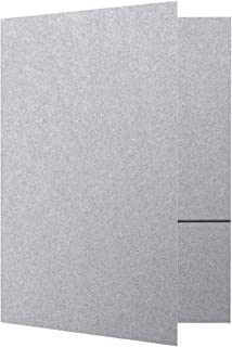 9 x 12 Presentation Folders - Silver Metallic (50 Qty) | Perfect for Tax Season, Brochures, Sales Materials and so Much More!| PF-M06-50