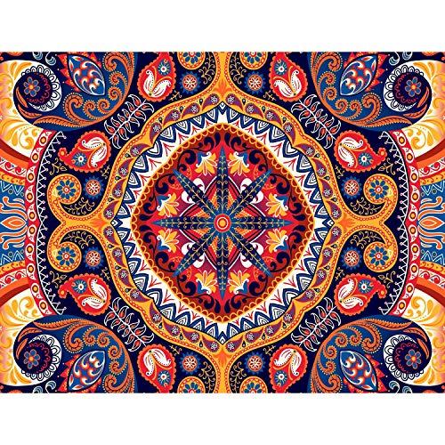 Fototapete Mandala Orient Bunt Vlies Wand Tapete Wohnzimmer Schlafzimmer Büro Flur Dekoration Wandbilder XXL Moderne Wanddeko - 100% MADE IN GERMANY - Runa Tapeten 9045010b