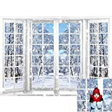 Allenjoy 7x5ft Winter Photography Backdrop Beautiful Nature Snowy Scenery from French Window Background for Kids Children Family Christmas Happy New Year Party Decor Banner Portrait Photo Booth Props