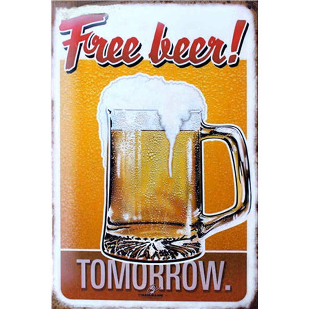 Bier jammert nicht Blechschild 17 x 22 cm 3857 Werbeschild RAHMENLOS® Art