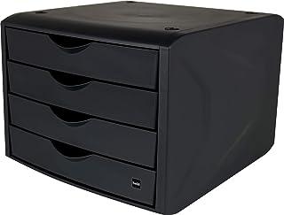Helit - Boîte de rangement pour tiroir « The green chameleon » en plastique recyclé certifié par un ange bleu Noir