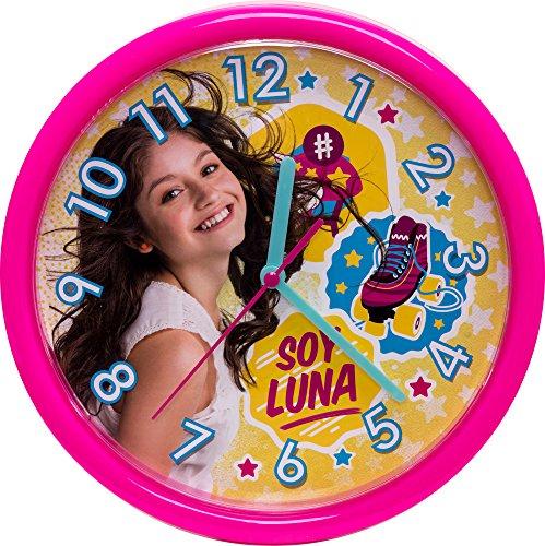 Soy Luna Meisjes Wandklok plastic roze 93711