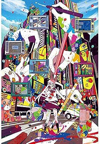FEI HOME CatPT Katze Panda Haus Illustration, Holzpuzzle, Handfarbe, Feinschnitt & Fit 5005000pc Boxed Toys Spiel Kunst für Erwachsene 19.3.23 (Farbe   A, Größe   5000pc)
