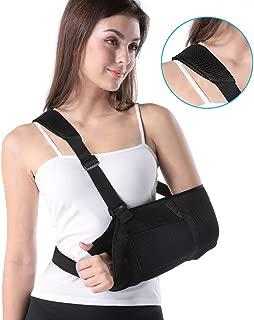 Arm Sling Shoulder Rotator Cuff, Adjustable Shoulder Sling Support Immobilizer for for Injury Support, Shoulder Surgery, Fractured Bones, Dislocation, Sprain, Strain, for Left Right Arm Elbow Support
