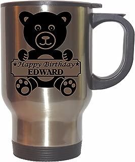 Happy Birthday Edward Stainless Steel Mug