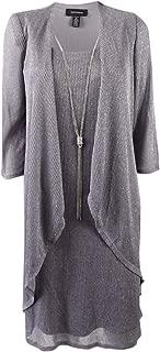 R&M Richards Women's 2 PCE Missy Metalic Jacket Dress