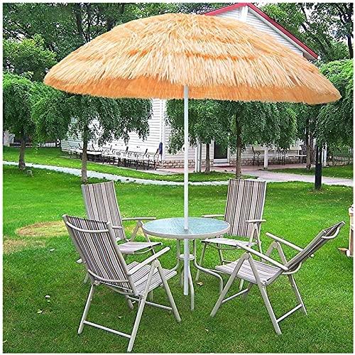 Paraguas de Playa a Prueba de Agua, Rafia Patio Patio Paraguas Hawaii Parasol Paraguas, Paraguas de Paja para Restaurant Hostel Park Beach, sin Bases Paraguas