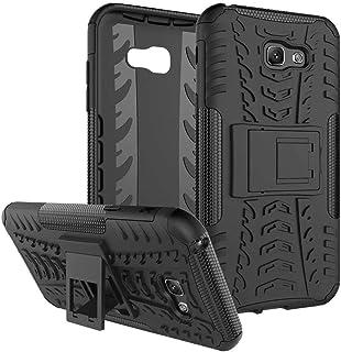 Samsung Galaxy A7 (2017 Version) -Heavy Duty Armor Hybrid ShockProof Hard Back Stand Case Cover -Black