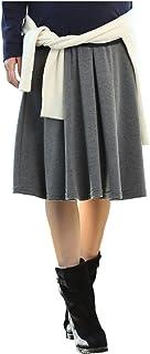ANGELIEBE エンジェリーベ マタニティ フィット フレア ミドル 丈 スカート 産前 産後 対応 妊婦服 S ~ M 杢 チャコール 20332 20332301