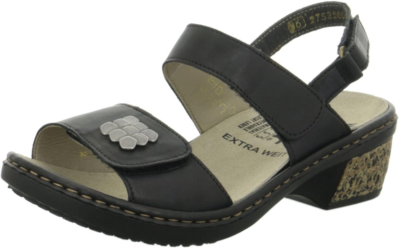 Rieker Damen Damen Damen Sandaletten herausneh. fußbett 67162-00 blau 460539  5107cf
