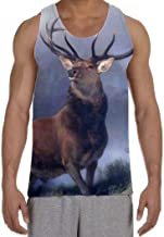 Tribal T-Shirts Monarch Of The Glen Sir Edwin LANDSEER Men's All Over Graphic Vest Tank Top