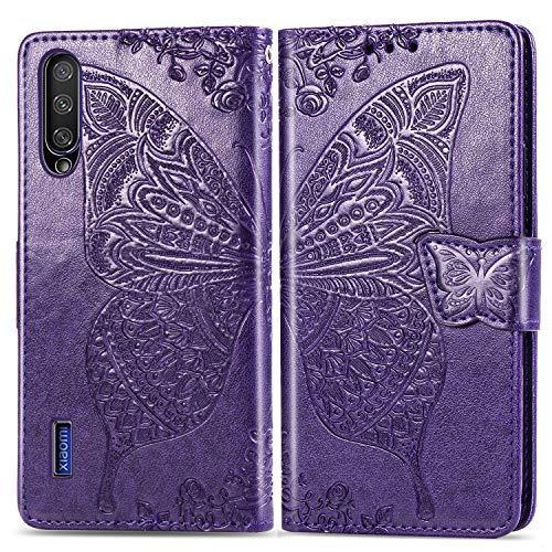 Jeewi Hülle für Xiaomi Mi A3 Hülle Handyhülle [Standfunktion] [Kartenfach] [Magnetverschluss] Tasche Etui Schutzhülle lederhülle klapphülle für Xiaomi MiA3 - JESD021351 Violett