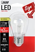 FEIT Electric BPS14/SU/LED Non-Dimmable Led Bulb, 1.5 W, 120 V, 80 Lumens, 3000K, 1-1/2 in Dia X 3-1/4 in L, Warm White