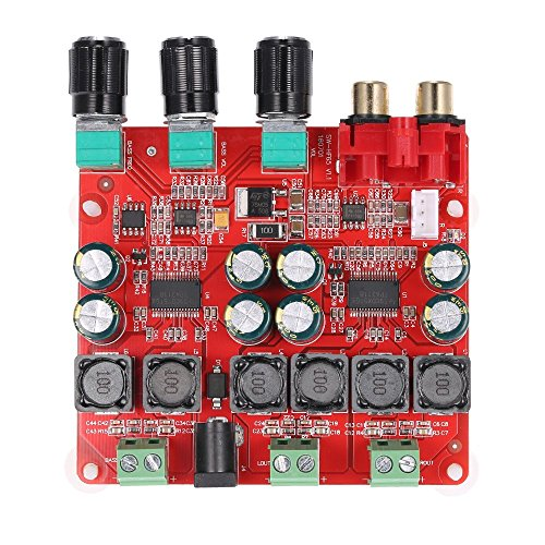 DollaTek TPA3118 2.1 Scheda Amplificatore di Potenza Digitale, 30W + 30W + 60W (Bassi) BTL 60W Amplificatore Audio Stereo binaurale, Amplificatore Stereo per Computer per Home Theater
