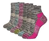 Dickies Women's Dritech Quarter Socks, White Fashion Assorted (6 Pairs), Shoe Size: 6-9