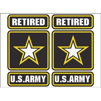 United States Army Retired Sticker 3-1//4