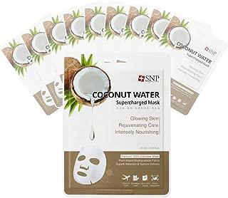 SNP - Coconut Supercharged Moisturizing Korean Face Sheet Mask - 10 Sheet Pack