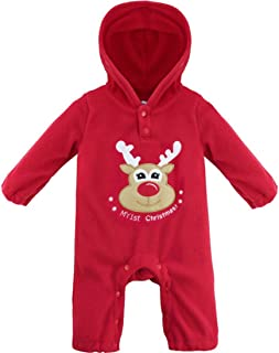 8256bbd8f302c YiZYiF Unisexe Bébé Grenouillères Halloween Noël Body Combinaison à Capuche  Barboteuse Romper Jumpsuit Pyjama Déguisement Fête