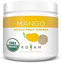 Sponsored Ad - KOYAH - Organic Freeze-dried Mango Powder (1 Scoop = 1/4 Cup Fresh): 30 Servings, 216 g (7.6 oz)