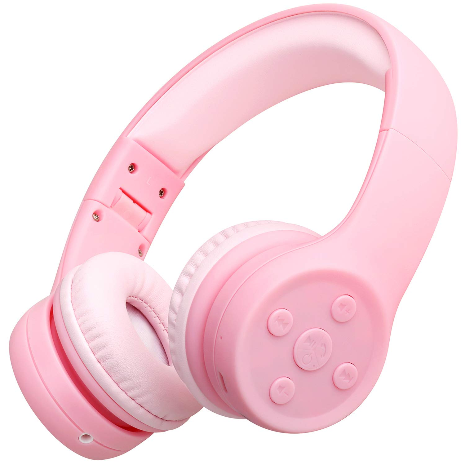 Amazon Com Picun Kids Bluetooth Headphones Safe Volume Limited 85db 15 Hours Play Time Foldable Stereo Sound Headsets With Mic Wireless Headphones For Girls Children Computer Cell Phones Tablet School Game Pink Electronics