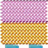 30 Rizadores de Cabello Kit de Rulos de Pelo Espirales Rodil