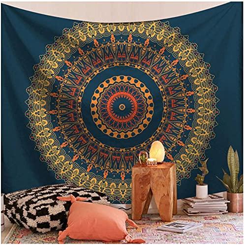 BD-Boombdl Tapiz de montaje en pared Mandala decoración encaje pared arte Fondo playa manta Camping viaje alfombra decoración del hogar 59.05'x51.18'Inch(150x130 Cm)