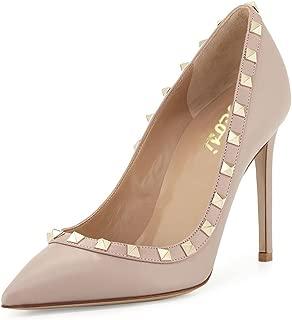 VOCOSI Womens Ankle Strap Block Heels Sandals Studded Strappy Slingback Gladiator Dress Summer