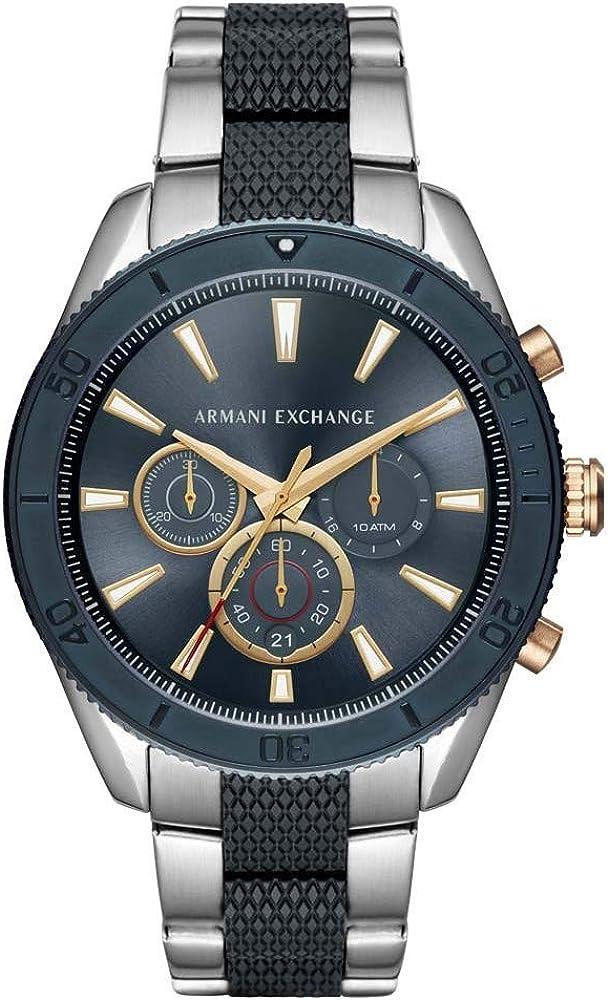 Armani exchange orologio cronografo da uomo in acciaio inossidabile AX1815