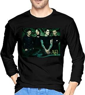 Zblin A Fire Inside AFI Band Mens Cool Long Sleeve Tee Black