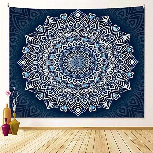 THEYANG Tapestry Tapiz Pared Decoracion Serie Mandala 17 /150x200cm Colgante de Pared Ropa de Cama Dormitorio Decoración Estera de Yoga Alfombras Manta de Playa Tarot Hippie Indio Boho Pavo Real