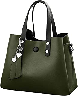 Women's Totes Crossbody Shoulder Bags Purse Handbag Casual Solid Color Leather Zipper Shoulder Messenger Crossbody Bags Clutch Totes