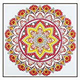 5D Crystal Embroidery, DIY Diamond Painting, Special Diamond Pattern Furniture Wall Decoration, Rhinestone Mandala Flower 12x12 inches