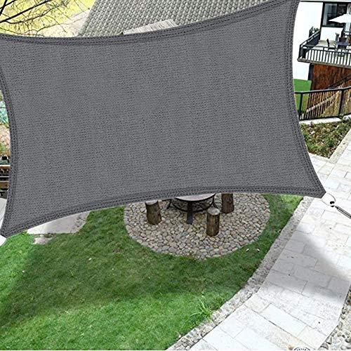 DAMAI Toldo Exterior Vela De Sombra Rectangular Protección 98% Rayos UV Impermeable para Jardin Piscina Terraza,3x4m