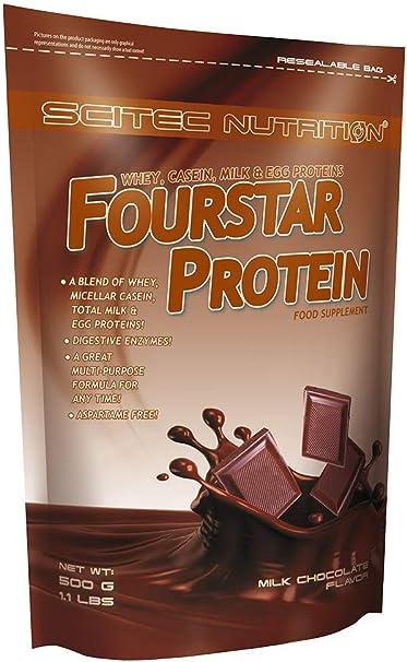 Scitec Nutrition Fourstar Protein proteína chocolate con leche 500 g