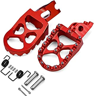 Dirt Bike Foot Pegs MX Compatible with Honda CR125/250 2002-2007/ CRF125 2007-2013/ CRF150R 2007-2019/ CRF250R 2004-2019/ CRF450R 2002-2019 Foot Rests Pedals Red