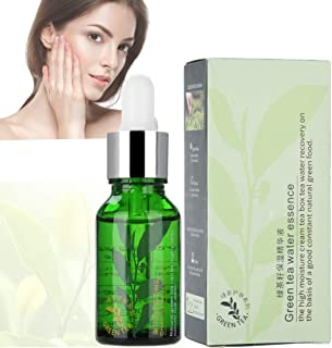 Face Serum,15ml Green Tea Seed Essence Serum Moisturizing Shrink Pores Anti-Aging Hyaluronic Acid Serum Repaired Face Esse...