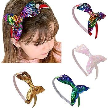 Pailletten Meerjungfrau Stirnband Glitter Sport Stirnbänder für Frisur Zubehör