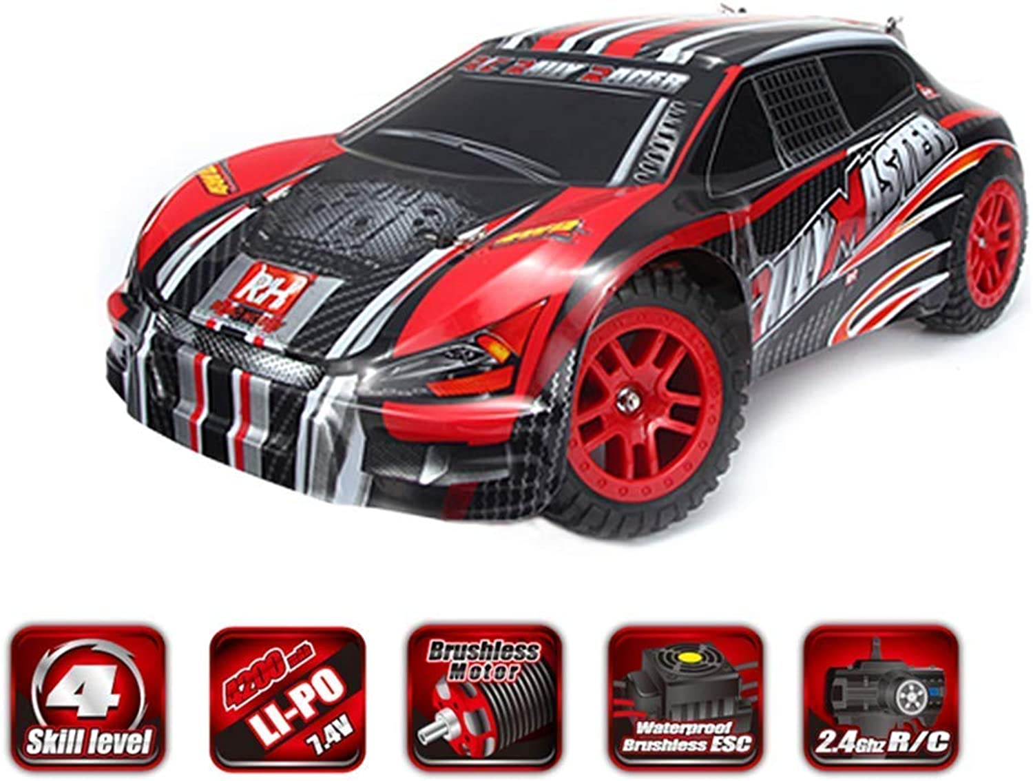 ZQYR GAME  RC Car 4WD 1 8 Scale Scale Scale 2.4Ghz High Speed RC Hobby Vehicle Electric Radio Remote Control Off Road Racing Trucks, Model  8085 e2aa75