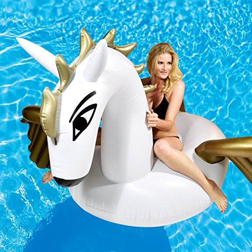 Materasso Gonfiabile Pegasus Materasso ad Aria Pegasus Materasso ad Aria Bagno a Cavallo Volante Isola con Ali Materasso Galleggiante Isola 250x250cm