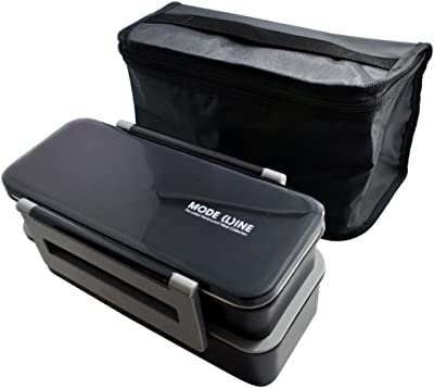 スケーター 保冷バッグ付 ジャンボ2段弁当箱 1.3L MODE LINE モードライン KCPJW13
