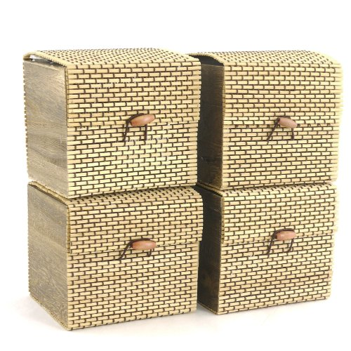 For Sale! BambooMN Brand - Granulated Bamboo Charcoal Odor Absorber in Decorative 4 Box, Brown 4pc