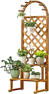 PPCP Hanging Flower Stand Stand Flower Stand Plant Display Stand Storage Rack Outdoor Basin Frame Garden Balcony Flower St...