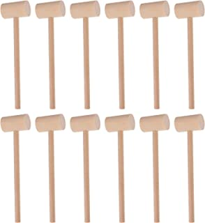 TOYANDONA 20 Pieces Mini Wooden Hammer Mallet Gavel Toys Mallet Pounding Toy Educational Toy for Kids Toddlers