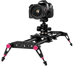 TNP 47 inches / 120cm Camera Slider for DSLR, Carbon Fiber Dolly Track Video Stabilizer Rail System with 22lbs/10kg Loading, 6 Roller Bearing for Cinematic Film Video Footage Studio Photography