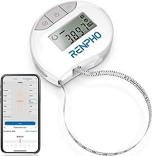 Cinta Métrica Inteligente con Aplicación: Cintas Métricas Bluetooth RENPHO para Medir el Cuerpo, Fitness, Retractable, Mid...